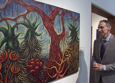 Daniel Veneciano with The Crying Tree by Patssi Valdez