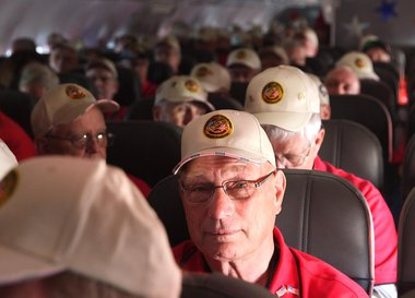 Vets on a plane