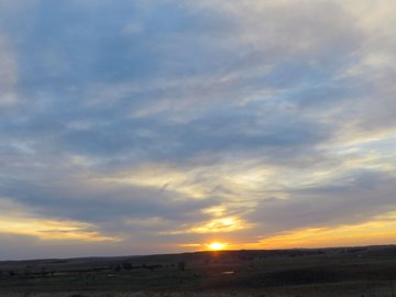 Sunset in the Sandhills